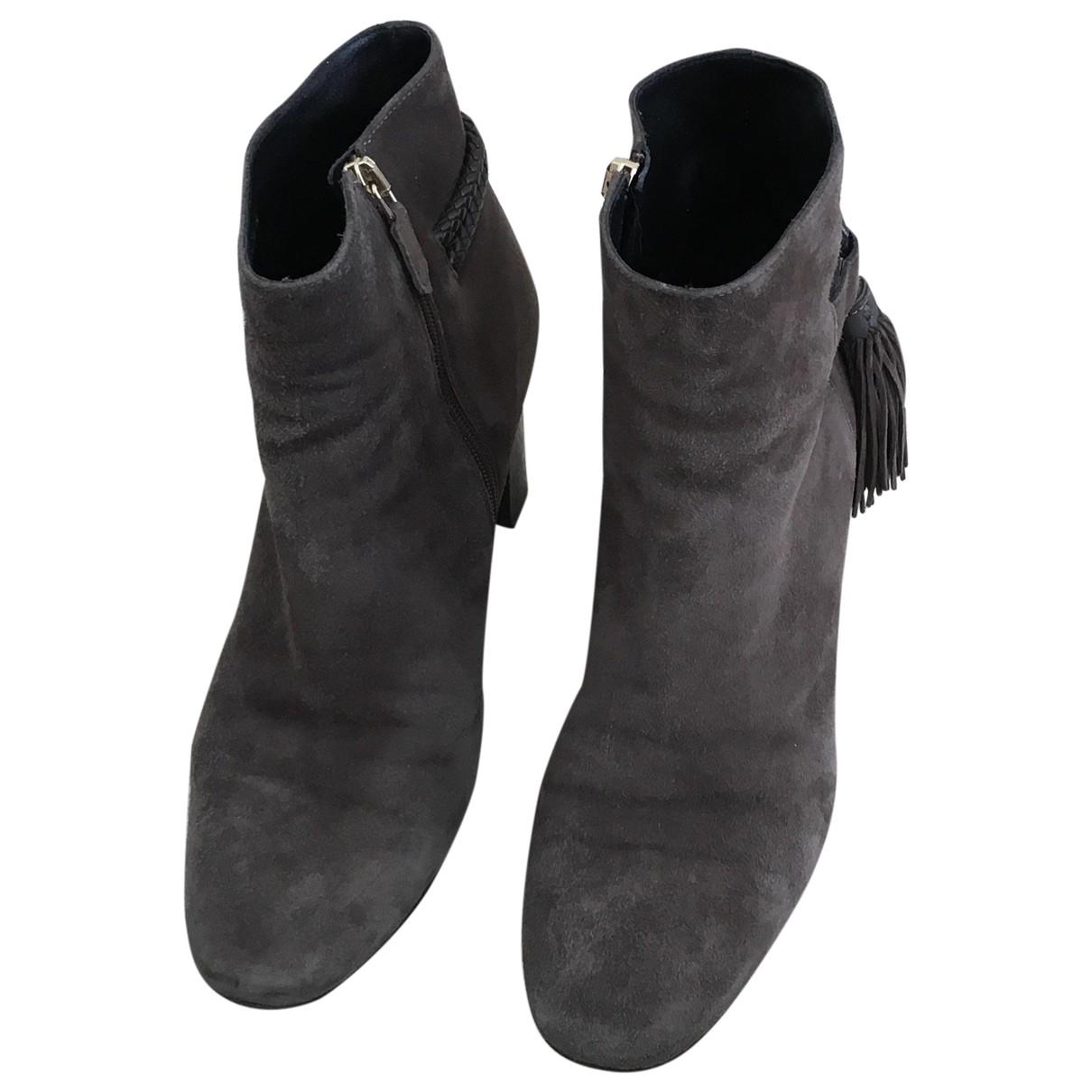 Lk Bennett \N Suede Ankle boots for Women 38 EU
