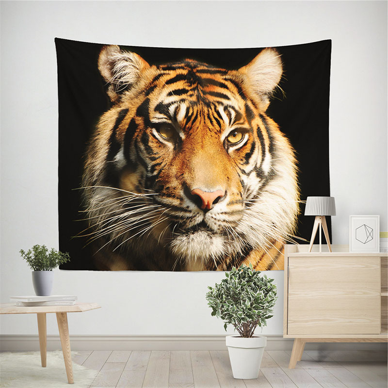 3D Wild Tiger Wall Tapestry Home Decoration Wall Decorations