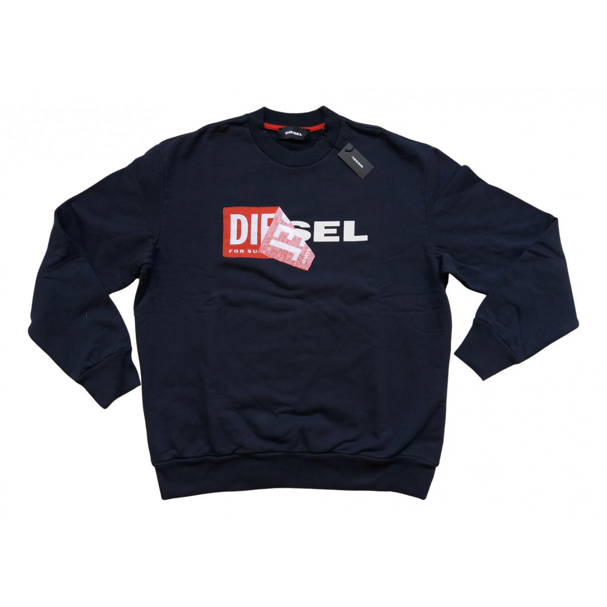 Diesel - Pulls.Gilets.Sweats   pour homme en coton - marine