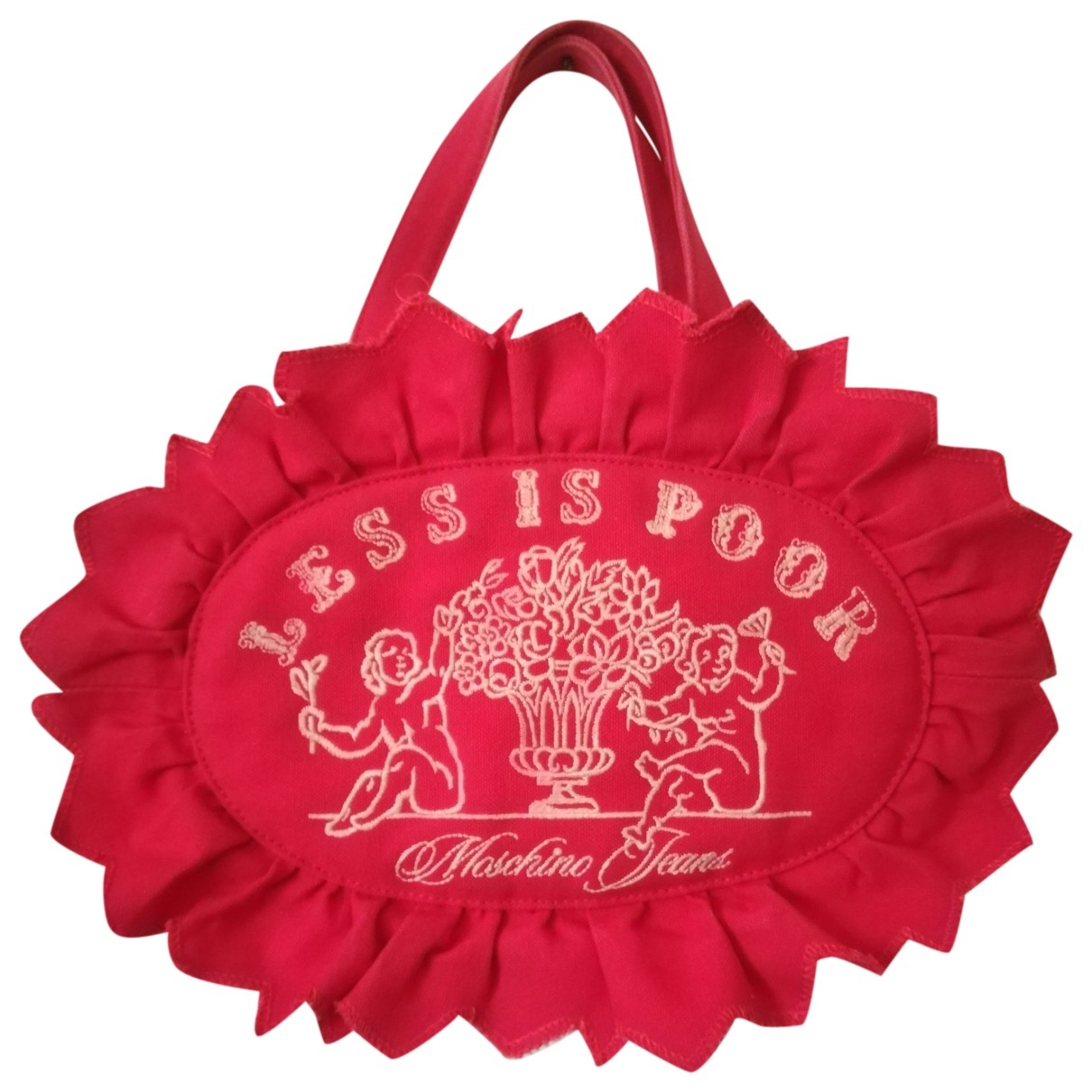 Moschino Cheap And Chic - Sac a main   pour femme en coton - rouge