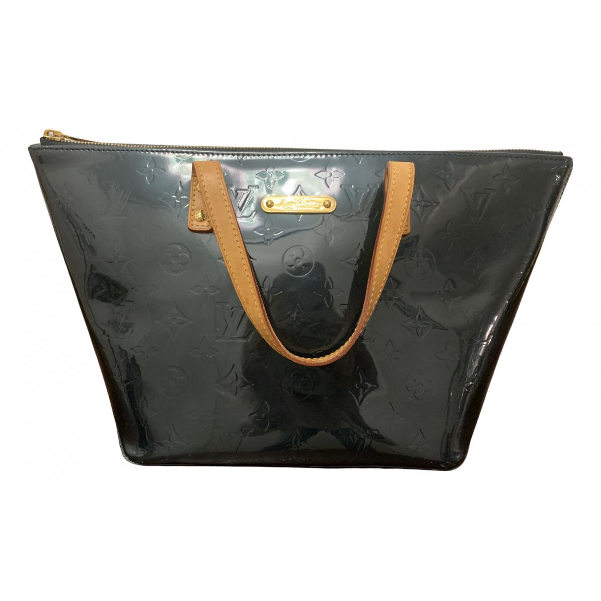 Louis Vuitton Bellevue Handtasche in  Blau Lackleder