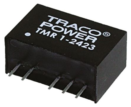 TRACOPOWER TMR 1 1W Isolated DC-DC Converter Through Hole, Voltage in 18 → 36 V dc, Voltage out ±15V dc