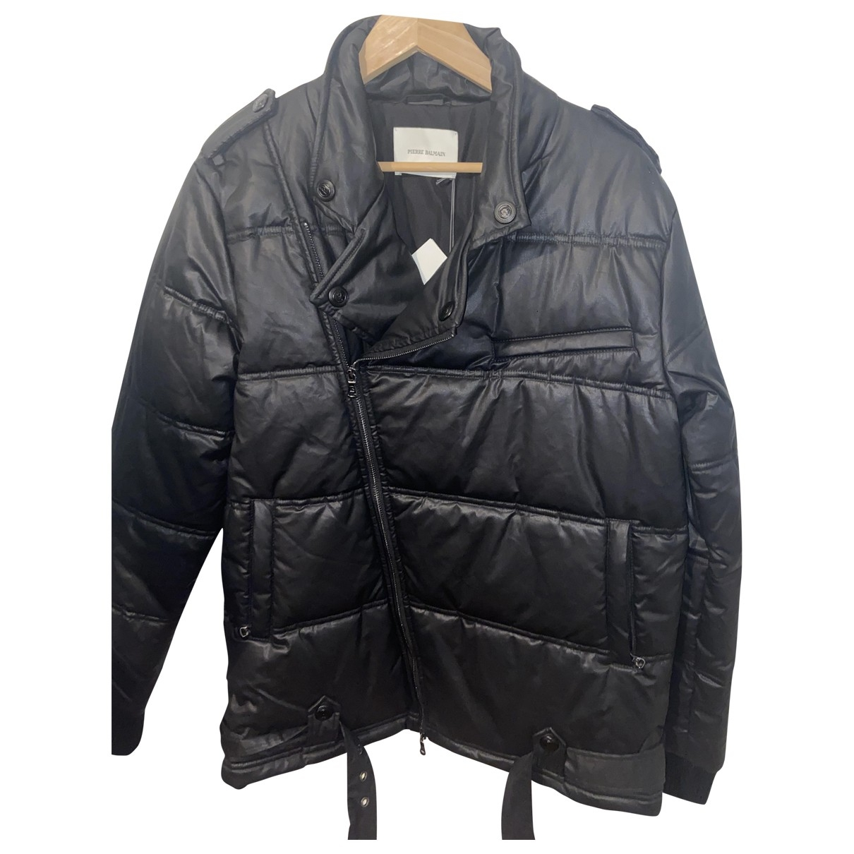 Pierre Balmain \N Black Cotton coat  for Men 46 FR