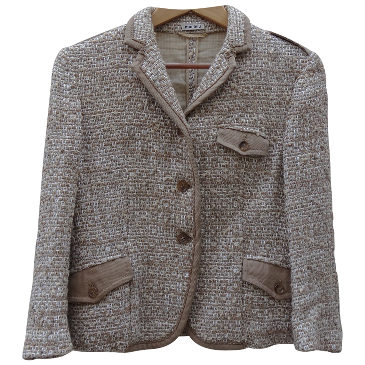 Miu Miu - Veste   pour femme en laine - beige