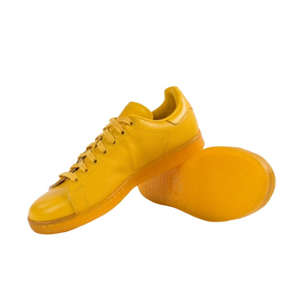 Adidas Stan Smith Yellow Leather Trainers for Men 39.5 EU