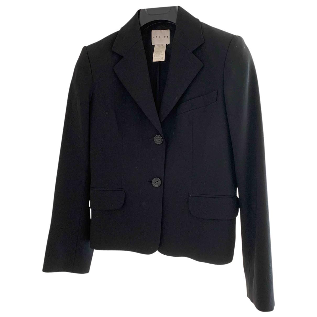 Celine N Black Wool jacket for Women 38 FR