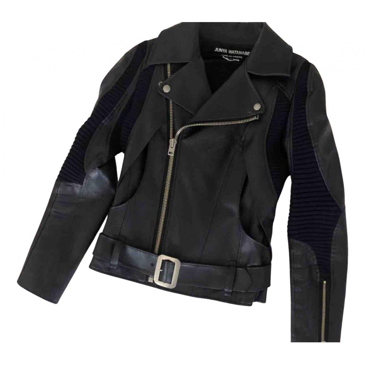 Junya Watanabe N Black Leather Leather jacket for Women S International