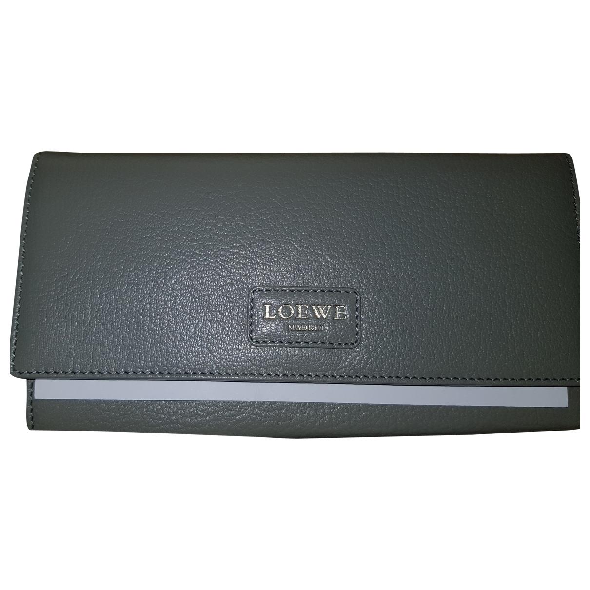 Loewe - Portefeuille   pour femme en cuir - gris