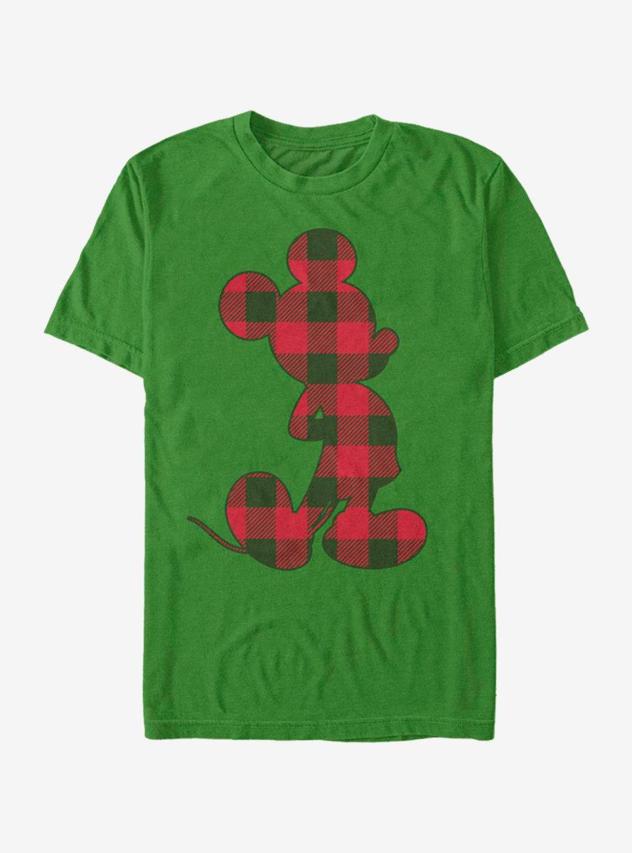Disney Mickey Mouse Christmas Checkered Mickey T-Shirt