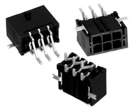 Wurth Elektronik , WR-MPC3, 4 Way, 2 Row, Right Angle PCB Header (5)