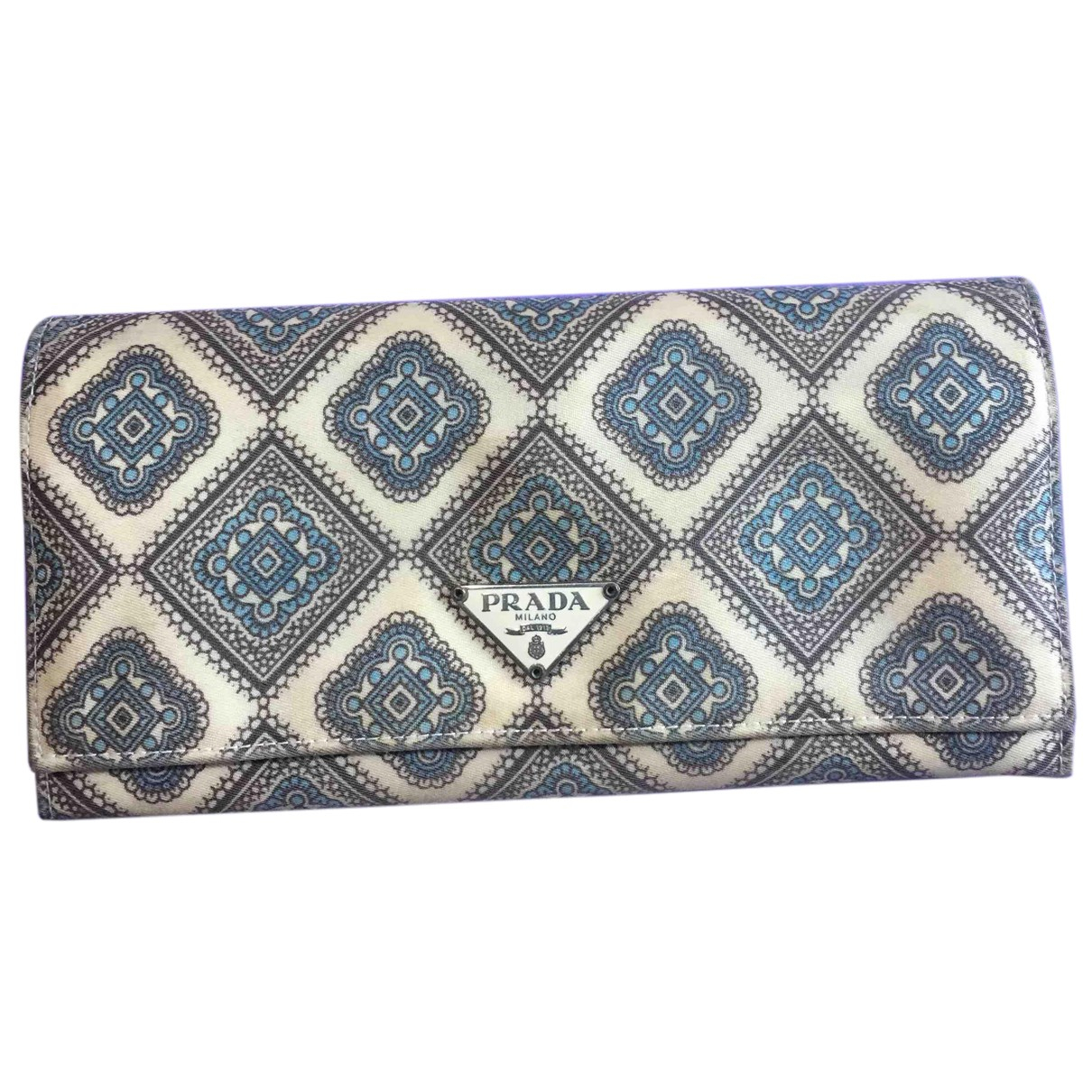 Prada N Grey Cloth wallet for Women N