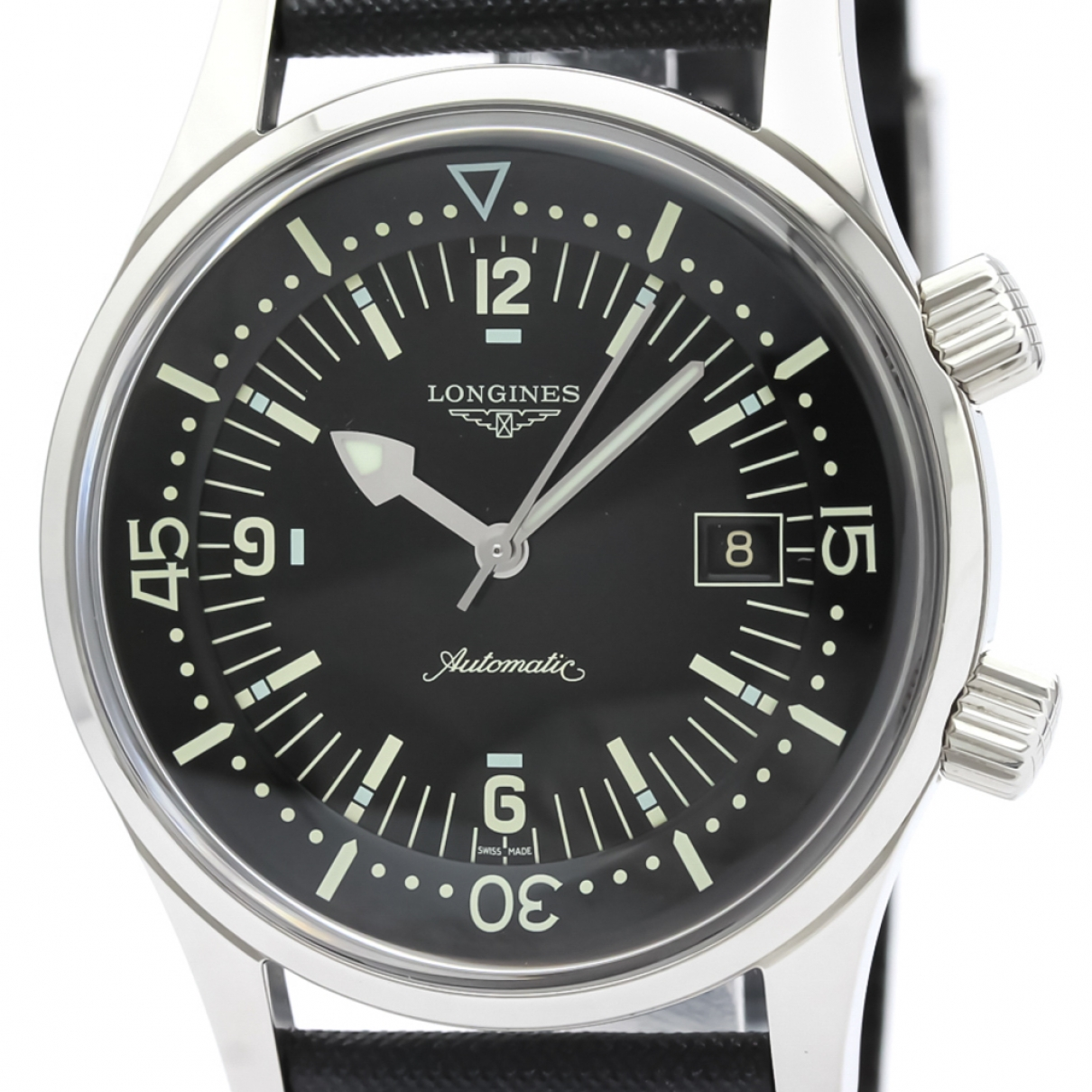 Longines \N Black Steel watch for Men \N
