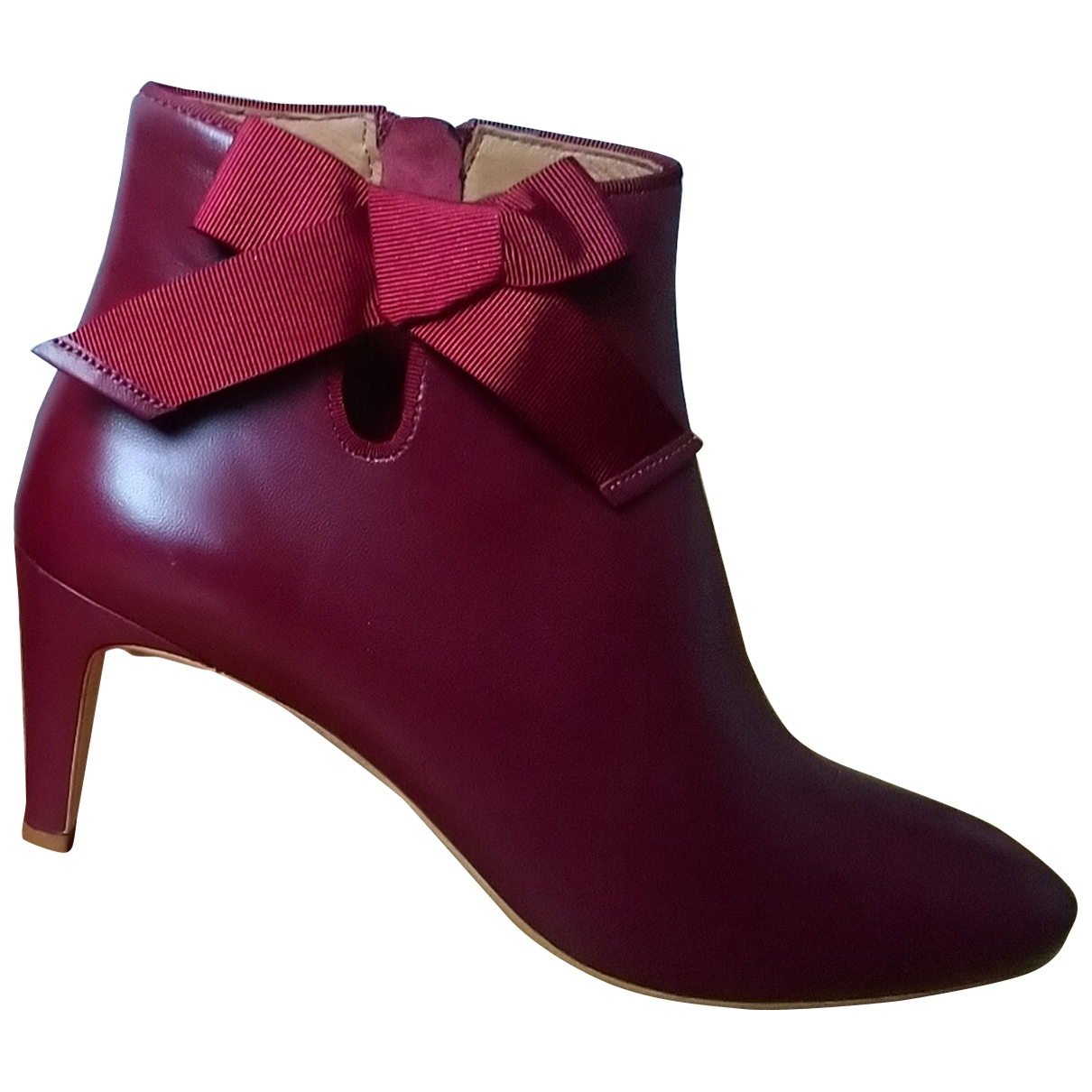 Petite Mendigote \N Burgundy Leather Ankle boots for Women 34 EU