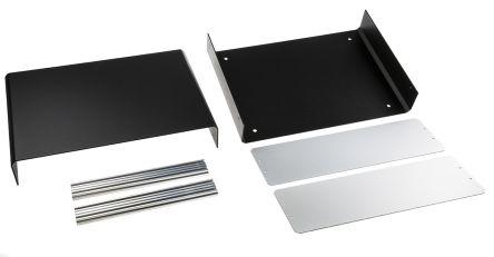 METCASE Unicase Black Aluminium Project Box, 350 x 250 x 110mm
