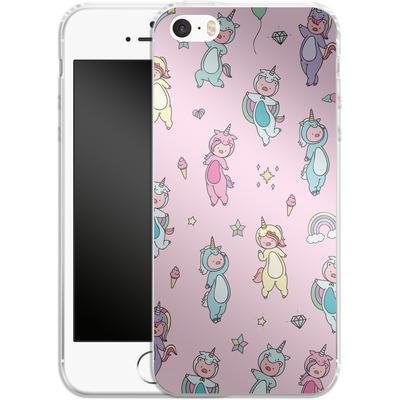 Apple iPhone SE Silikon Handyhuelle - Piggy Unicorns von Chan-chan