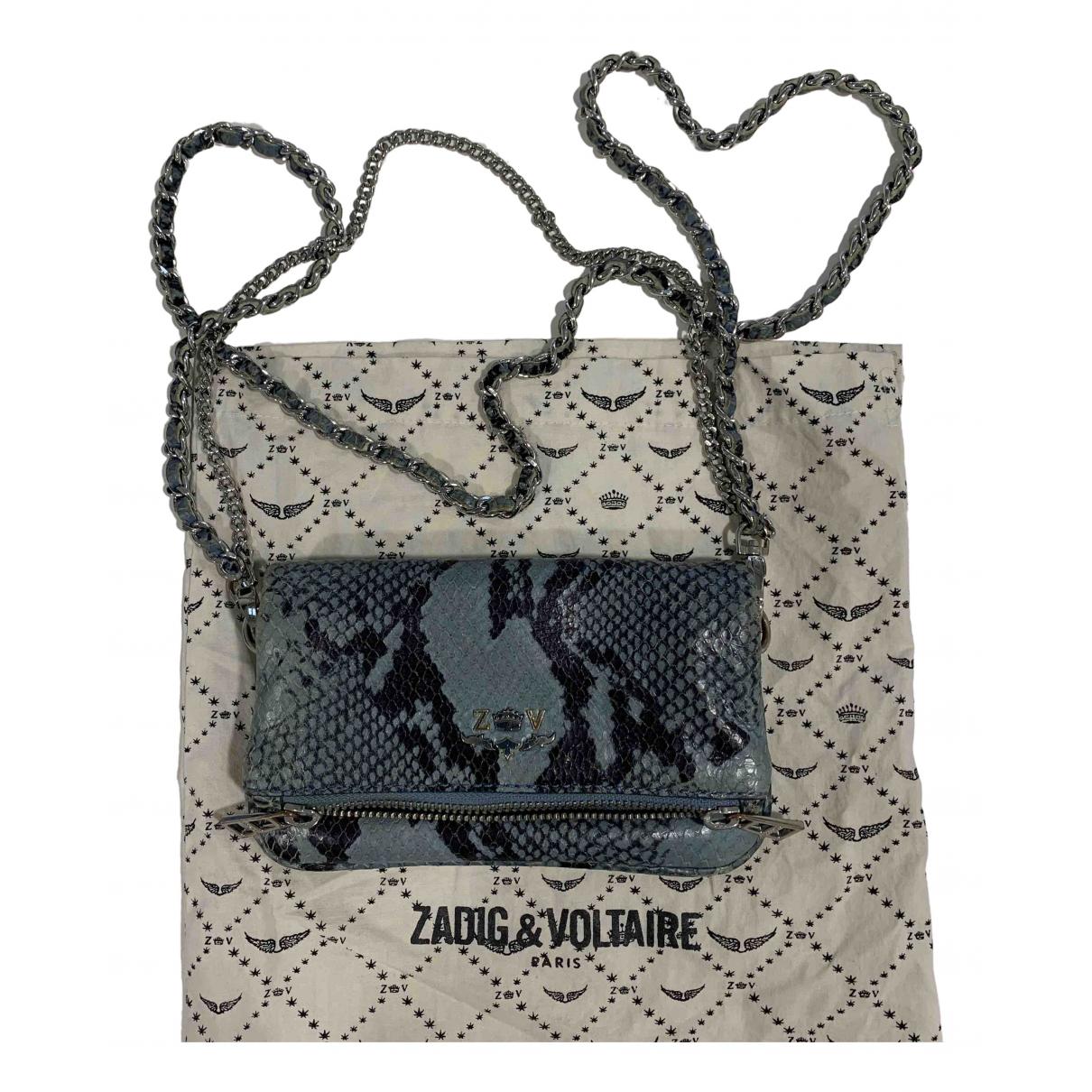 Zadig & Voltaire Rock Black Leather handbag for Women N