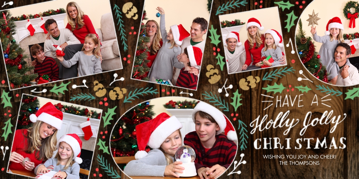 Christmas Photo Cards 4x8 Flat Card Set, 85lb, Card & Stationery -Timberline