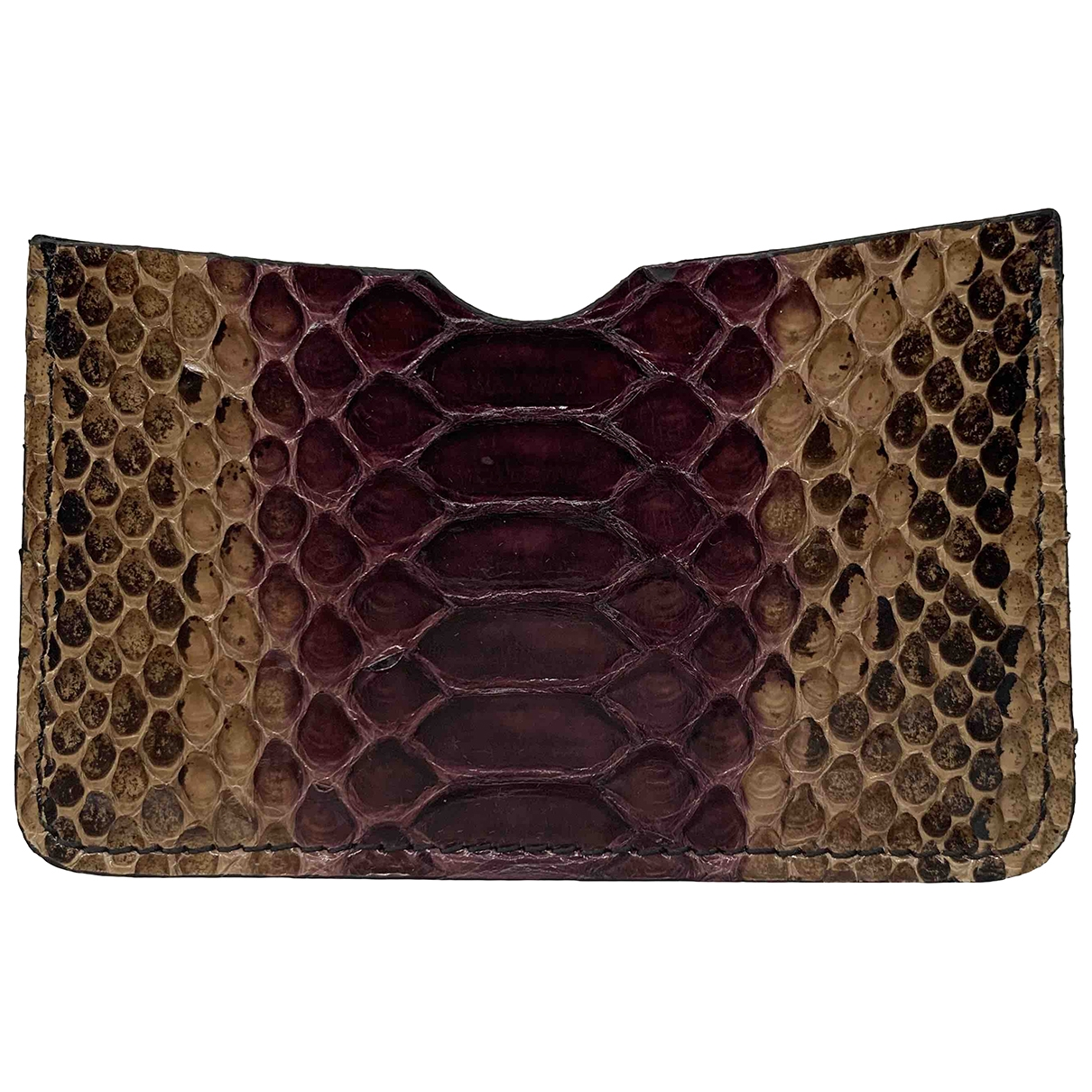 Non Signé / Unsigned \N Burgundy Python Purses, wallet & cases for Women \N