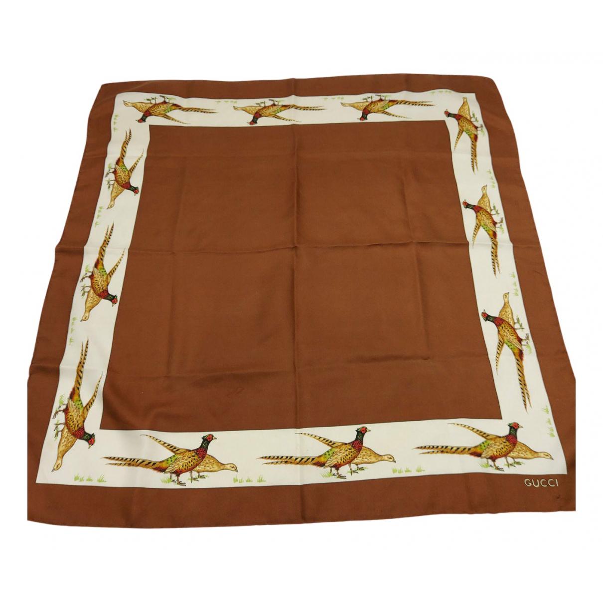 Gucci N Brown Silk Silk handkerchief for Women N