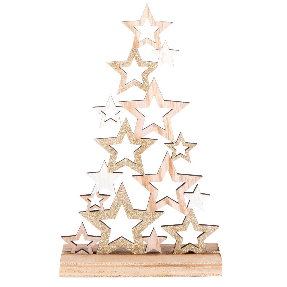 Weihnachtsdeko, Tannenbaum aus Sternen