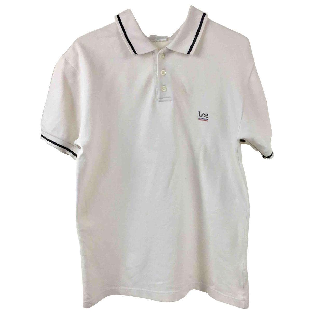 Lee - Polos   pour homme en coton - blanc