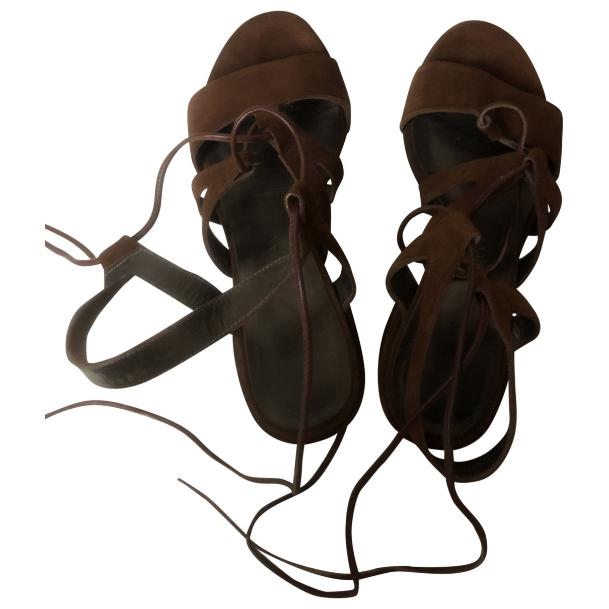 Stuart Weitzman \N Brown Suede Sandals for Women 5 US