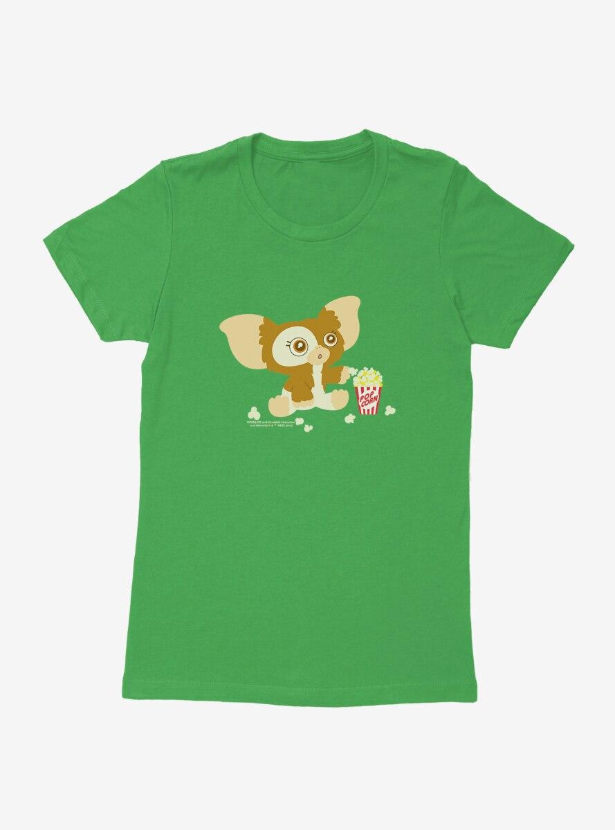 Gremlins Suprised Gizmo Eating Popcorn Womens T-Shirt