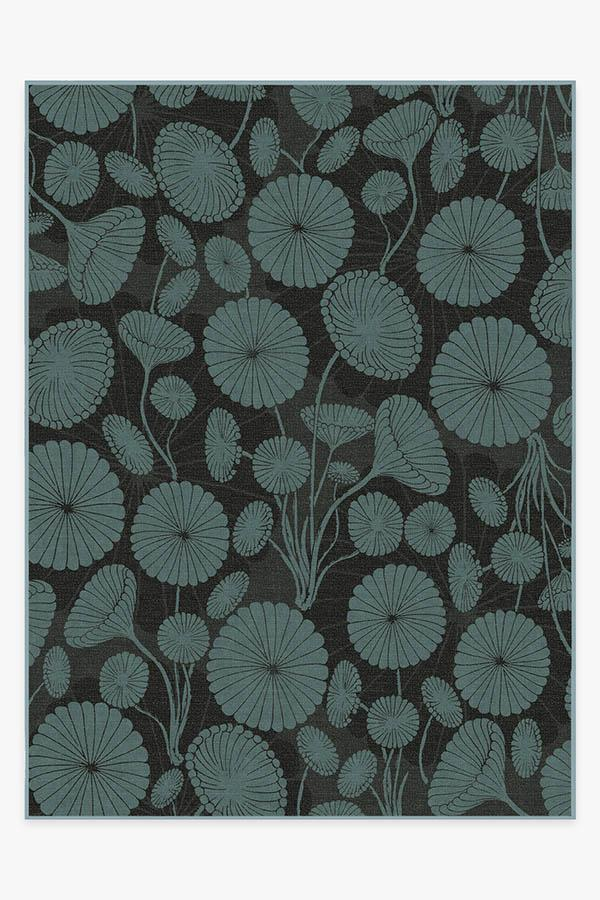 Washable Rug Cover | Cynthia Rowley Pompom Jade Rug | Stain-Resistant | Ruggable | 9'x12'