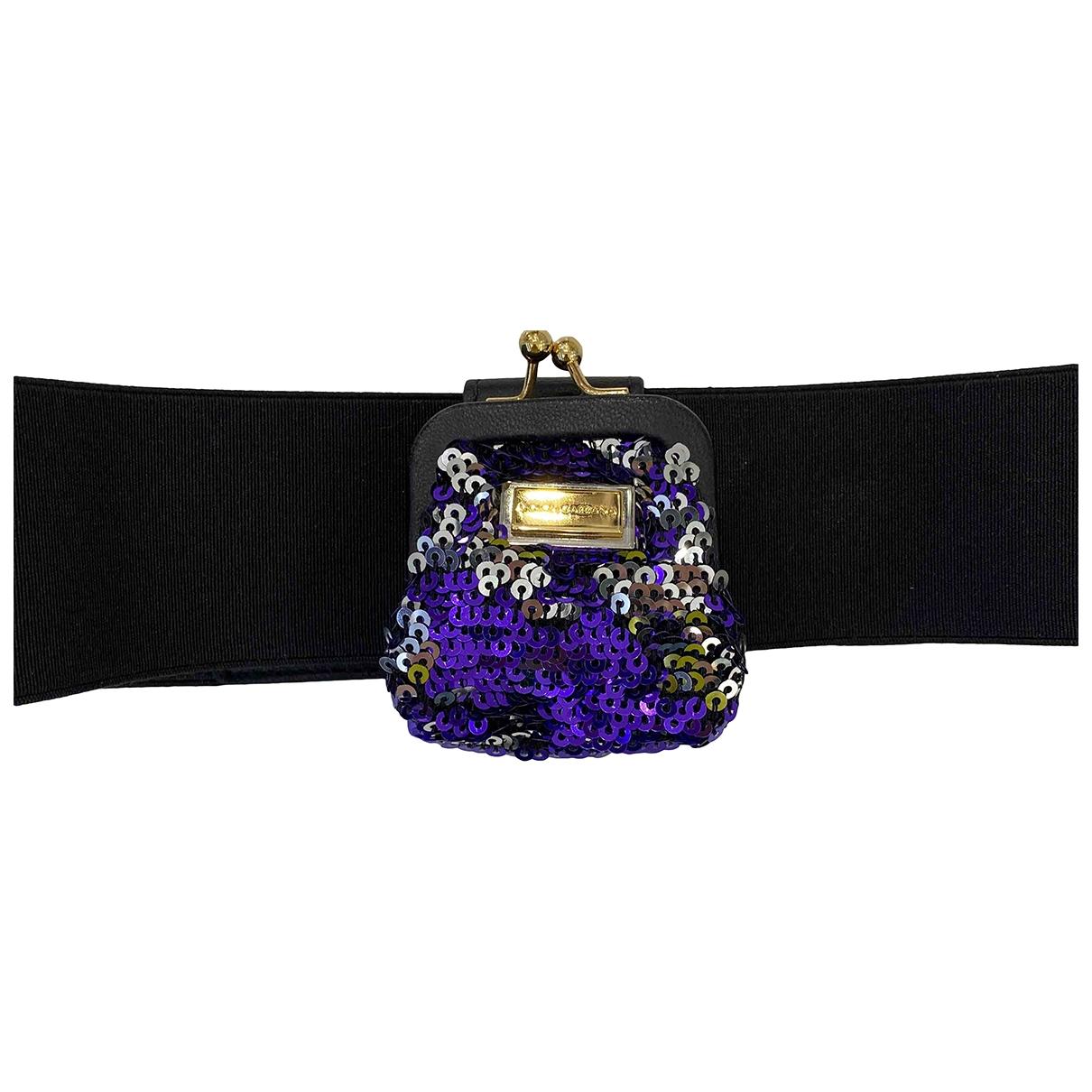 Dolce & Gabbana \N Guertel in  Schwarz Leinen