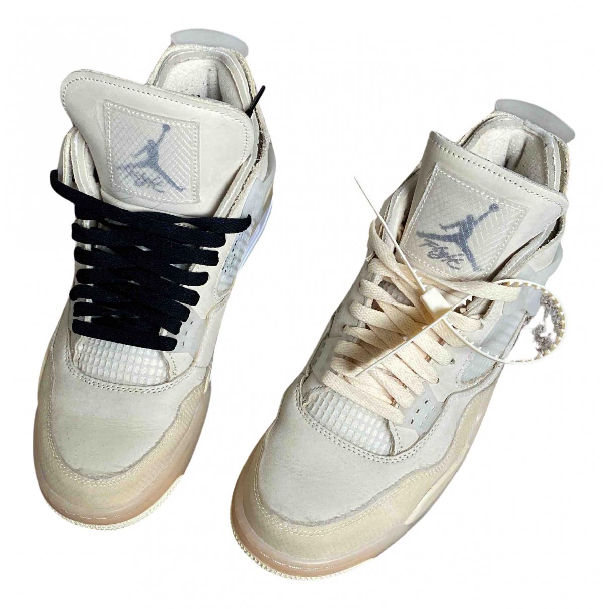 Deportivas Air Jordan 4 de Cuero Nike X Off-white
