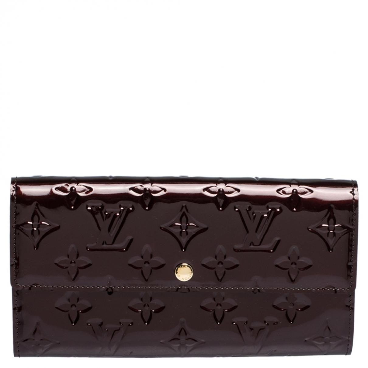 Louis Vuitton - Portefeuille Sarah pour femme en cuir verni