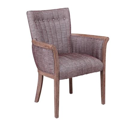 BM209074 Fabric Upholstered Tufted Back Accent Chair with Flared Arms