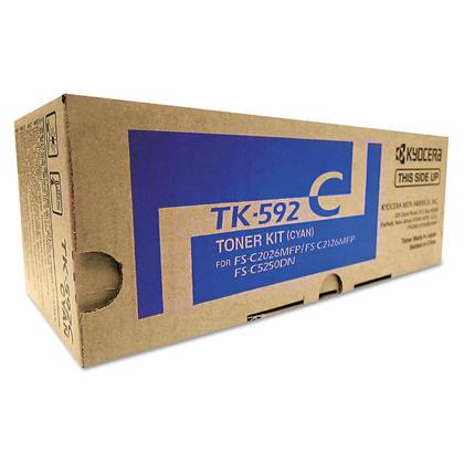 Kyocera-Mita TK592 TK-592C cartouche de toner originale cyan