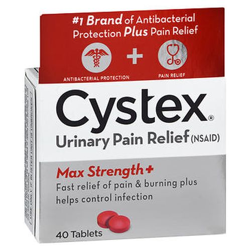 Cystex Urinary Pain Relief Tablets Max Strength+ 40 Tabs by Cystex