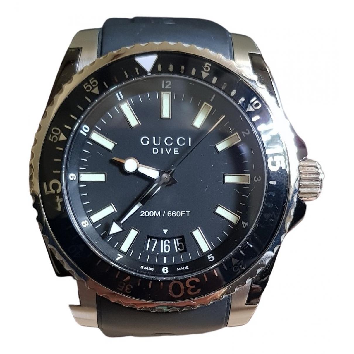 Gucci Dive Black Steel watch for Men \N