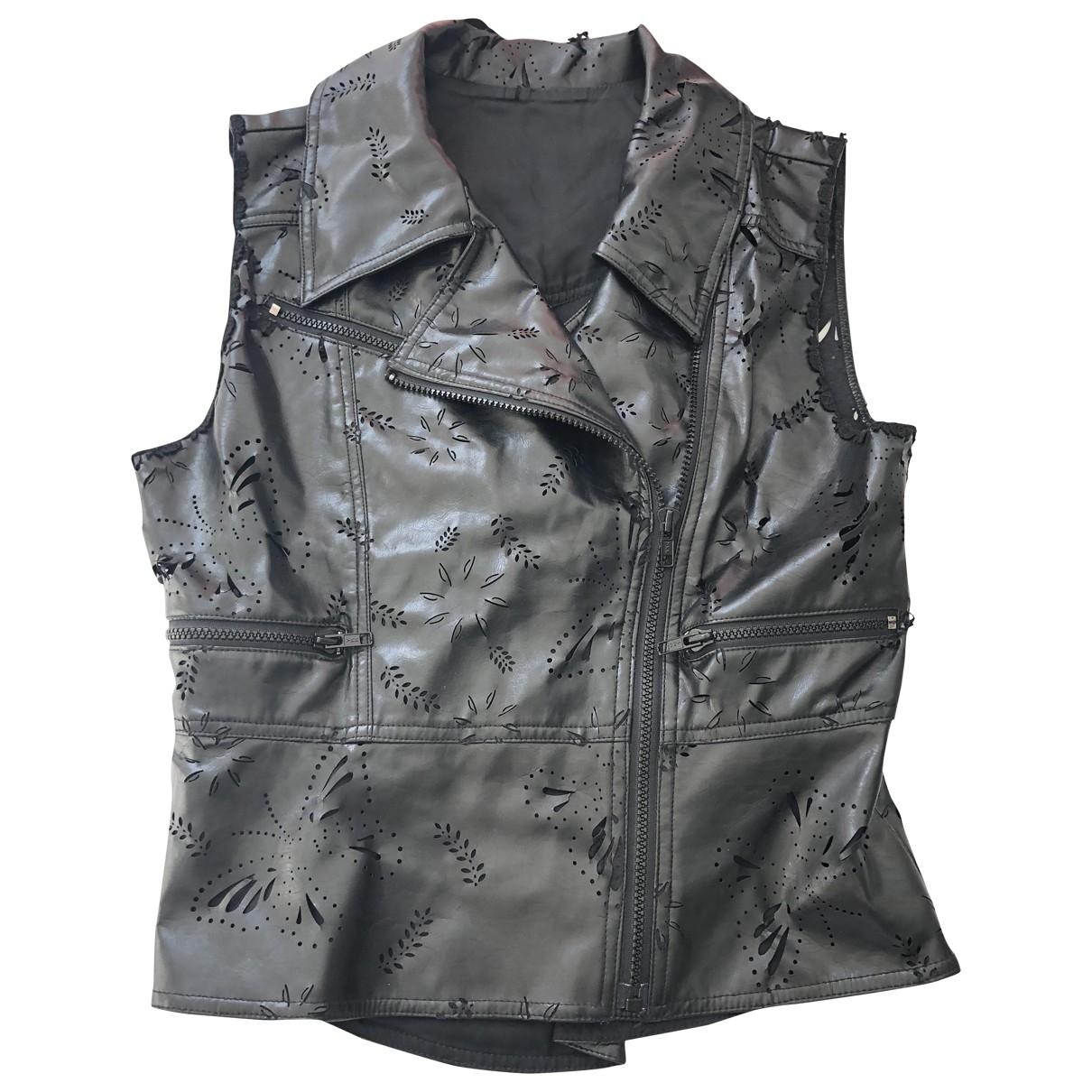 Anna Sui - Veste   pour femme en cuir - noir