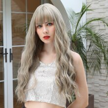 Long Curly Wig With Bangs
