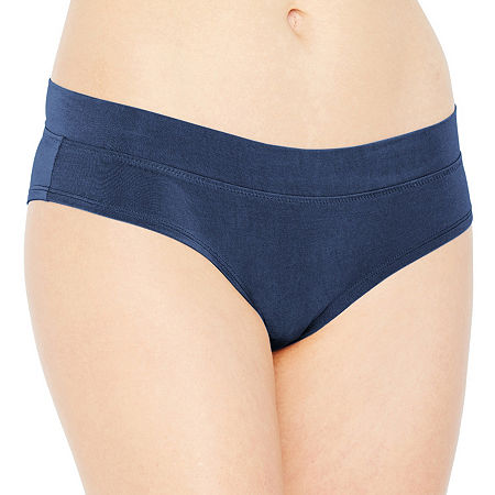 Ambrielle Cotton Modal Cheeky Hipster, Large , Black