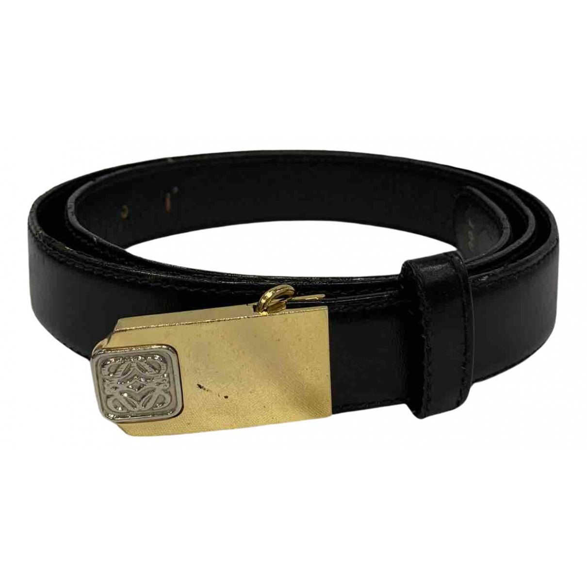 Loewe \N Guertel in  Schwarz Leder