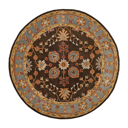 Safavieh Heritage Collection Johna Oriental Round Area Rug, One Size , Multiple Colors