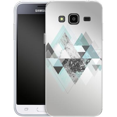 Samsung Galaxy J3 (2016) Silikon Handyhuelle - Graphic 110 - Turquoise von Mareike Bohmer