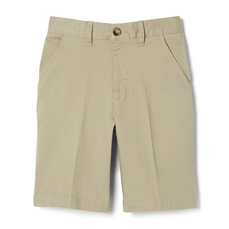 French Toast Big Boys Adjustable Waist Chino Short, 20 , Brown