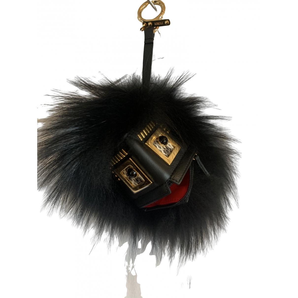 Fendi - Bijoux de sac   pour femme en fourrure - noir