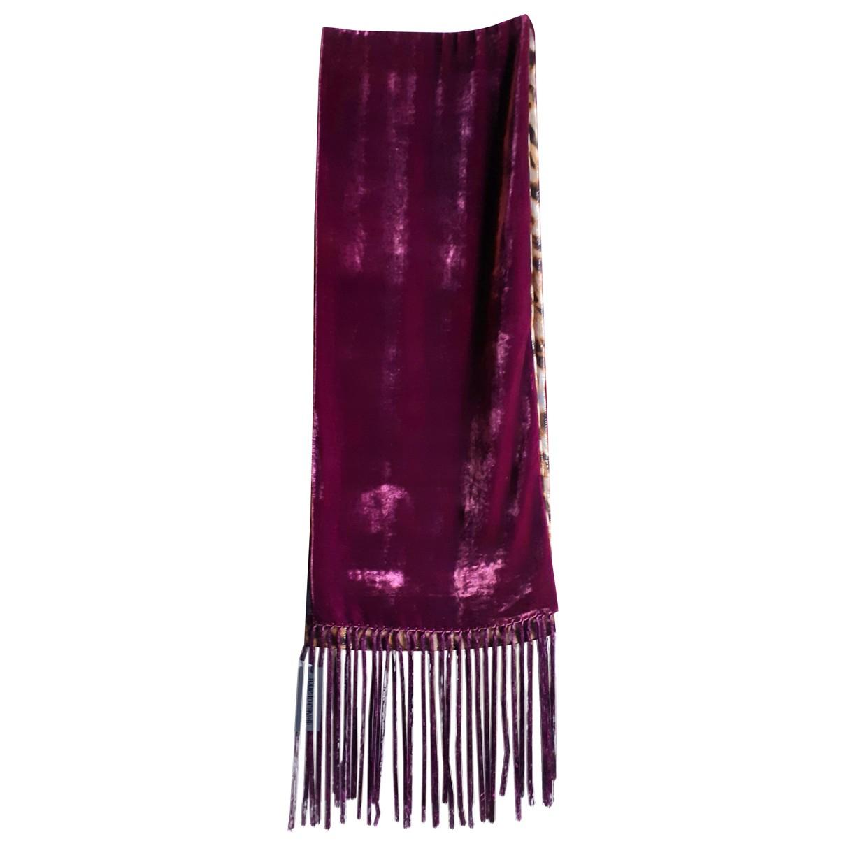 Roberto Cavalli N Purple Velvet scarf for Women N