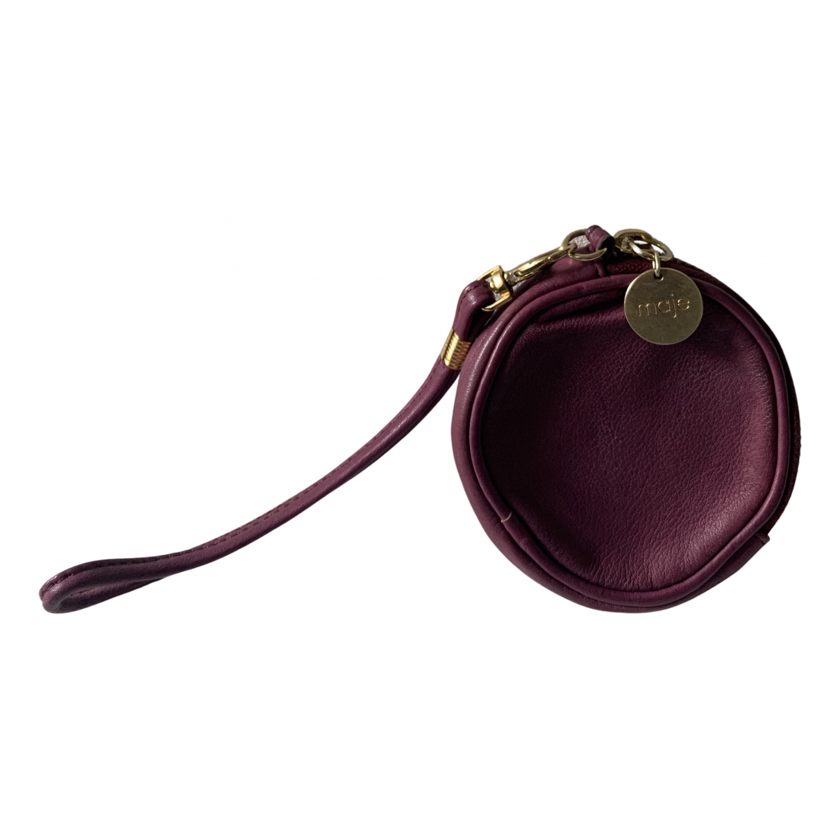 Maje - Petite maroquinerie   pour femme en cuir - violet