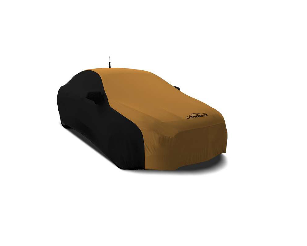 Coverking CVC2SS283MA9416 CVC2SS283 Satin Stretch 2-Tone Black Sides Hertz Gold Center Custom Car Cover Mazda MX-5 Miata 2016-2021