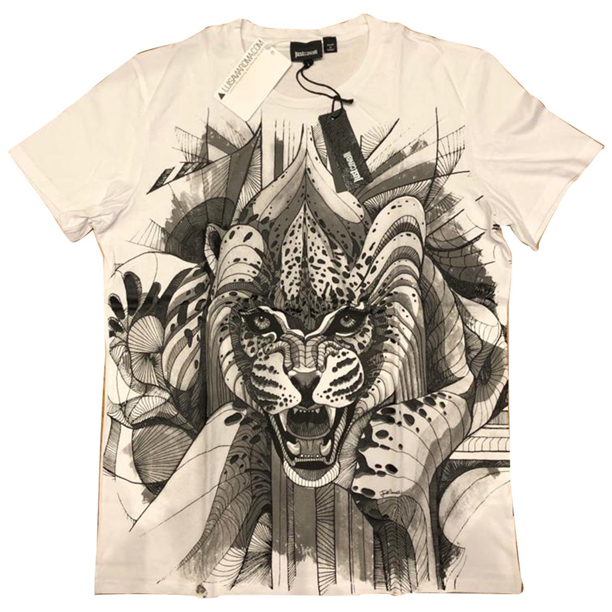 Just Cavalli \N White Cotton T-shirts for Men L International
