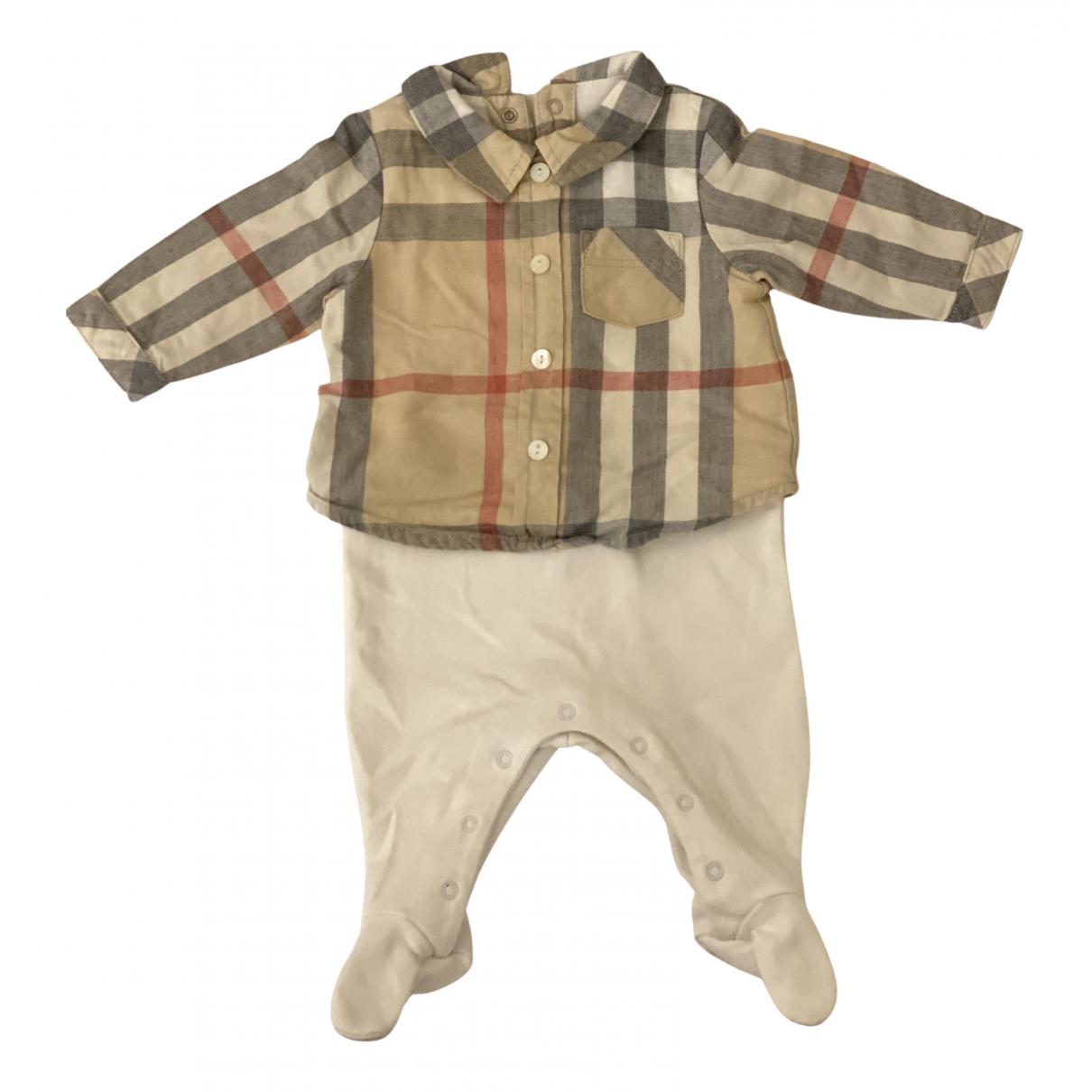 Burberry - Les ensembles   pour enfant en coton - blanc