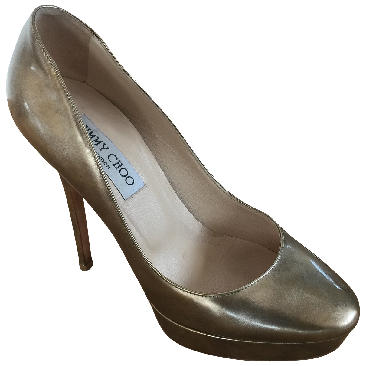 Jimmy Choo \N Gold Leather Heels for Women 38 EU