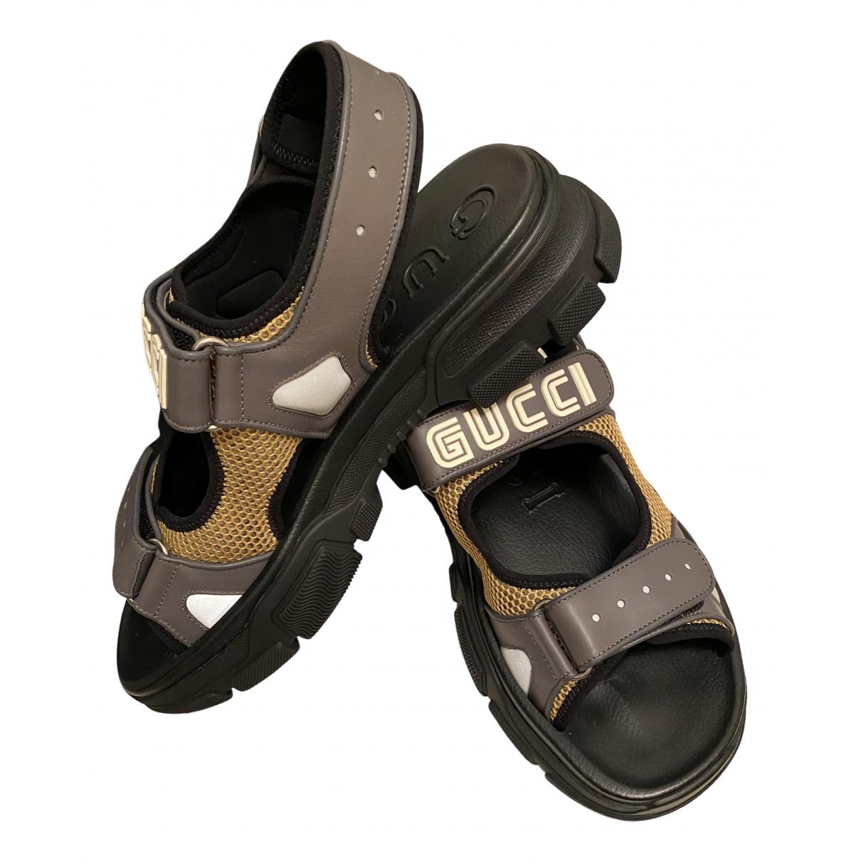Gucci \N Black Rubber Sandals for Men 10 UK